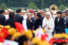 Welcoming ceremony for Japanese Emperor in Hanoi